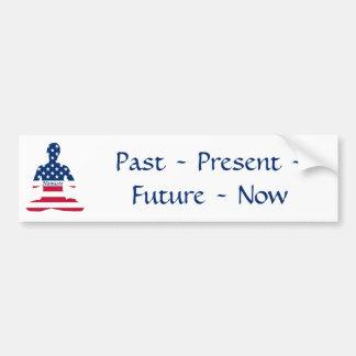 Pegatina Para Coche Bandera de la yoga del americano de la meditación