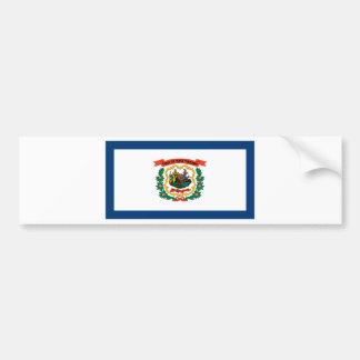 Pegatina Para Coche Bandera de Virginia Occidental