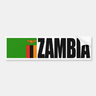 Pegatina Para Coche Bandera de Zambia