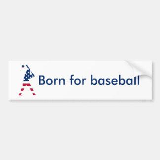 Pegatina Para Coche Bandera del americano del béisbol de América