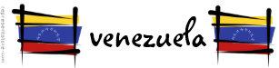 Pegatina Para Coche Bandera del cepillo de Venezuela