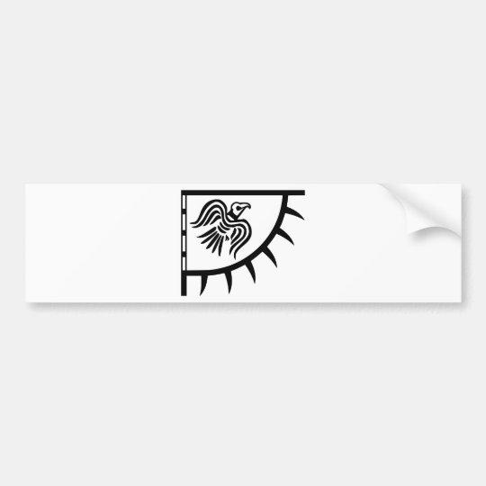 Pegatina Para Coche Bandera del cuervo del negro de Viking