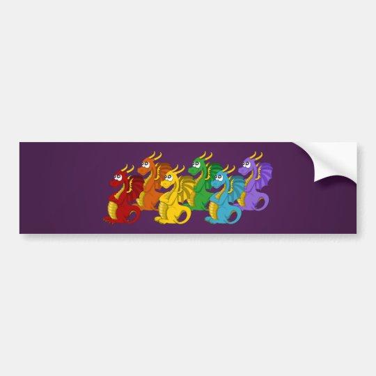 Pegatina Para Coche Bandera del dibujo animado de los dragones del