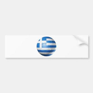 PEGATINA PARA COCHE BANDERA DEL FÚTBOL DE GRECIA