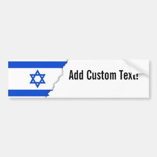 Pegatina Para Coche Bandera del israelí