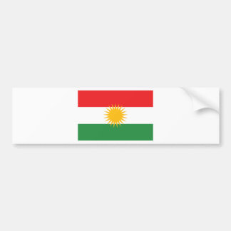 Pegatina Para Coche Bandera del Kurdistan; Kurd; Kurdo