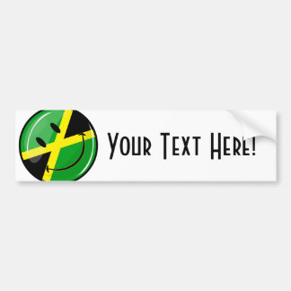 Pegatina Para Coche Bandera jamaicana sonriente