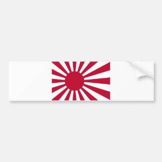 Pegatina Para Coche Bandera naval de Japón - bandera japonesa del sol