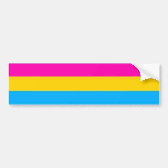 Pegatina Para Coche Bandera Pansexual del orgullo