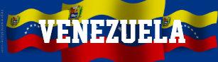 Pegatina Para Coche Bandera que agita de Venezuela