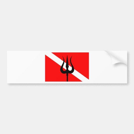 Pegatina Para Coche Bandera Trident de la zambullida