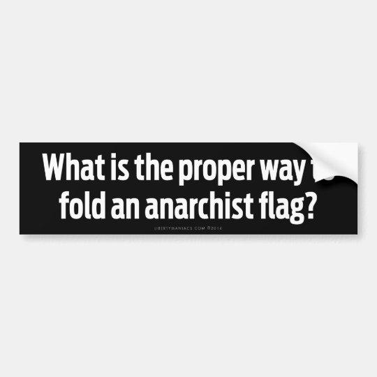 Pegatina Para Coche Banderas plegables del anarquista
