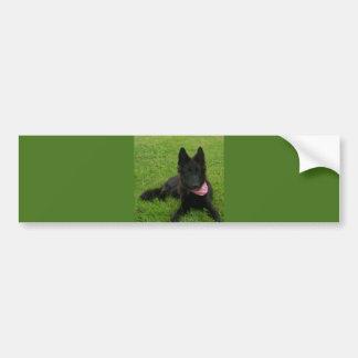 Pegatina Para Coche Belgian_Shepherd_Groenendael_puppy