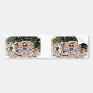 Pegatina Para Coche Bennett - mini australiano - Rosie - playa de