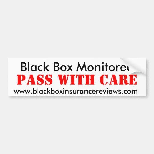 Pegatina Para Coche Black Box supervisó - pase con cuidado