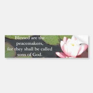 Pegatina Para Coche Blessed es los pacificadores, porque ......