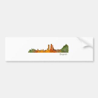 Pegatina Para Coche Bogotá City Colombia Cundinamarca Skyline v01