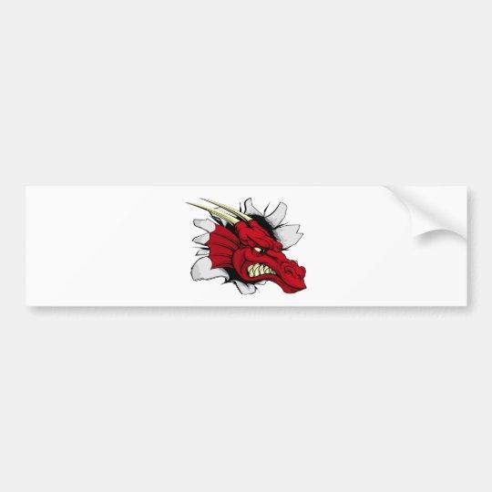 Pegatina Para Coche Brecha roja del dragón