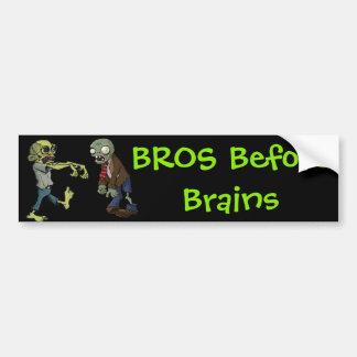 Pegatina Para Coche Bros antes de cerebros…