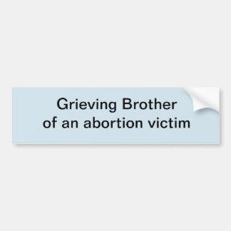 Pegatina Para Coche Brother que se aflige