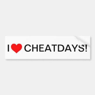 Pegatina Para Coche Bumpersticker de los cheatdays del corazón I