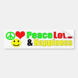 Pegatina Para Coche bumpersticker del amor y de la felicidad de la paz