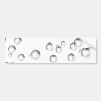 Pegatina Para Coche Burbujas en blanco y negro