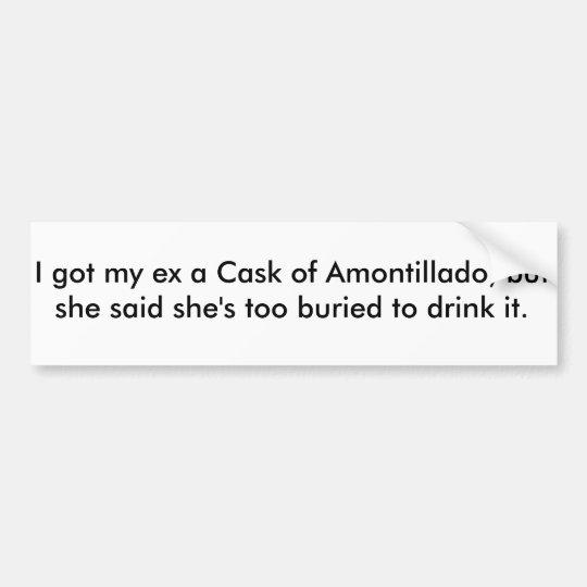 Pegatina Para Coche Caak del Amontillado (pegatina para el