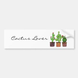 Pegatina Para Coche Cactus lindo de la acuarela en potes