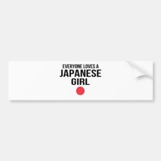 Pegatina Para Coche Cada uno ama a un chica japonés