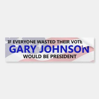 Pegatina Para Coche Cada uno necesita perder su voto en Gary Johnson