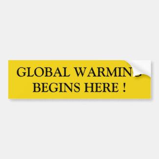Pegatina Para Coche calentamiento del planeta