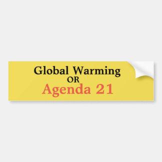 Pegatina Para Coche Calentamiento del planeta u orden del día 21