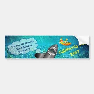 Pegatina Para Coche California, tiburón y submarino amarillo del