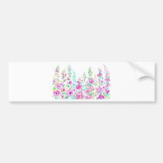 Pegatina Para Coche Cama floral abstracta de la acuarela
