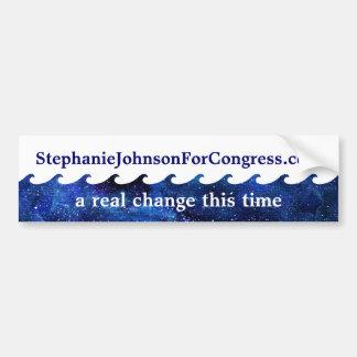 Pegatina Para Coche Campaña electoral de azul de la onda 2018