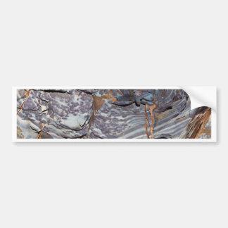 Pegatina Para Coche Capas naturales de ágata en una piedra arenisca