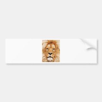 Pegatina Para Coche cara del león sí
