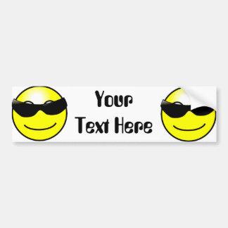 Pegatina Para Coche Cara sonriente amarilla de las gafas de sol