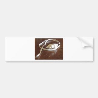 Pegatina Para Coche Cargador blanco del smartphone en la tabla de