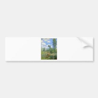 Pegatina Para Coche Carril en los campos de la amapola - Claude Monet