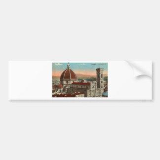 Pegatina Para Coche Catedral retra de Florencia Italia Italia del arte