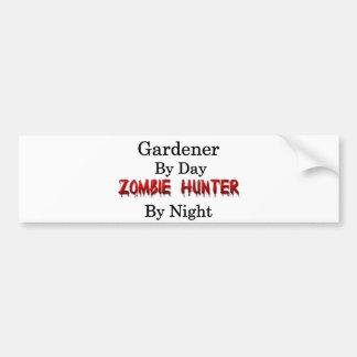 Pegatina Para Coche Cazador del jardinero/del zombi