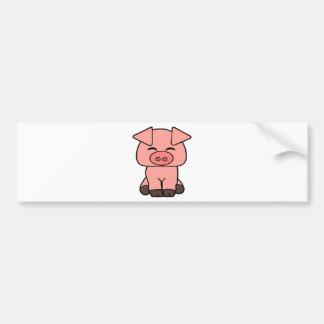 Pegatina Para Coche Cerdo rosado lindo