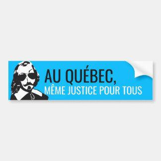 Pegatina Para Coche ¡Champlain Hipster Quebec Justicia - SU TEXTO!