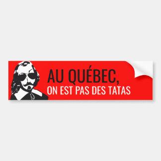 Pegatina Para Coche ¡Champlain Hipster Quebec no tocó - SU TEXTO!