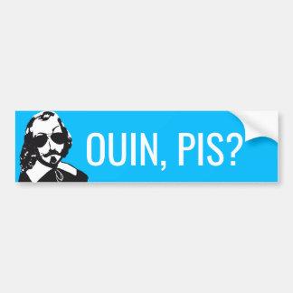Pegatina Para Coche ¿Champlain Hipster Québec ouin, pis? - SU TEXTO