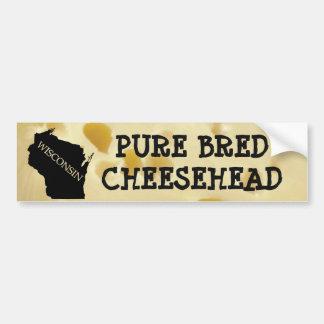 Pegatina Para Coche Cheesehead criado puro Wisconsin Sticke de