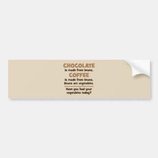 Pegatina Para Coche Chocolate, café, habas, verduras - novedad