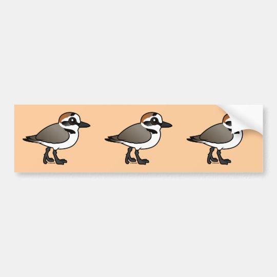 Pegatina Para Coche Chorlito de Kent de Birdorable
